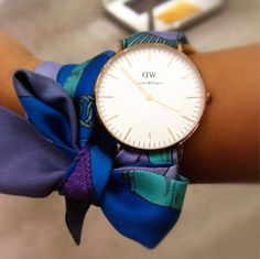Use an Hermes twilly scarf as a watchband