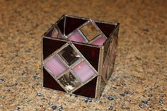 Handmade Stained Glass Candle Holder  Red and by OceanViewGlass