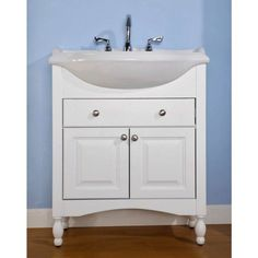 "30"" Unfinished Narrow Depth Mission Hardwood Vessel Sink Vanity Custom Narrow Depth Bathroom Vanity Decorating Design"
