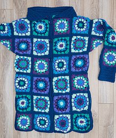 Inspired by a designer coat that was priced at over a thousand dollars, this coat takes the granny square from mundane to stunning! We used six shades of Super Saver in neutral shades, but you should feel free to experiment with your favorite colors. Pattern is given to fit small to 3X sizes.