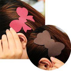 Fashion cute  Magic Paste Posts Hair Sticker Clip Magic Plastic Bangs Stickers Cartoon Design Hair Accessories #JH075 #Affiliate
