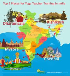TOP 5 PLACES FOR YOGA TRAINING IN INDIA - India is known for its natural beauty, culture, religions and various ancient practices like yoga and ayurveda. If India is on your list for next travel desti Yoga India, India India, Yoga Teacher Training Course, Yoga Teacher Training India, Rishikesh Yoga, Yoga Philosophy, Yoga School, Top 5, Ashtanga Yoga