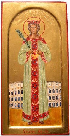 photo Ste Cécile Faith Of Our Fathers, Sainte Cecile, Catholic, Saints, November, Images, Van, Female, Painting