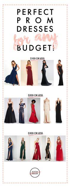 2017 Prom Dresses for any budget via aliciafuller.com
