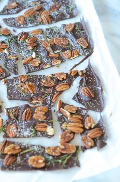 Rosemary Pecan Bark / Image via: Forgiving Martha for Camille Styles #entertaining #gifts