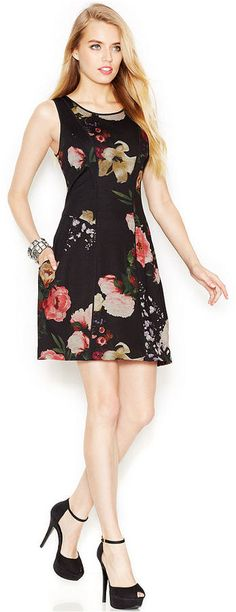 Jessica Simpson Sleeveless Floral-Print Dress is on sale now for - 25 % ! is on sale now for - 25 % !