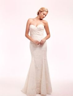 Sweetheart Mermaid Wedding Dress  with No Waist/Princess Seams in Lace. Bridal Gown Style Number:32485062