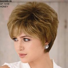 Best Womens Hairstyles For Fine Hair – HerHairdos Hair Styles For Women Over 50, Short Hair Cuts For Women, Short Hairstyles For Women, Hairstyles With Bangs, Cool Hairstyles, Hairstyle Ideas, Pixie Hairstyles, Short Layered Haircuts, Choppy Haircuts