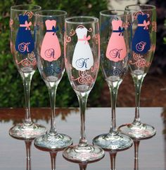 6 Personalized Bride and Bridesmaid by SweetSouthernCompany