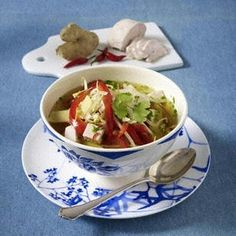 Schlank-Suppe: Asiatische Curry-Geflügelsuppe Rezept
