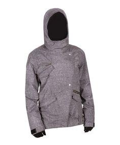 Charcoal (CHR) BILLABONG Haze Snowboard Jacket Women's... I WANT THIS!!!