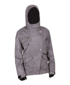 Charcoal (CHR) BILLABONG Haze Snowboard Jacket Women's... I WANT THIS!!!