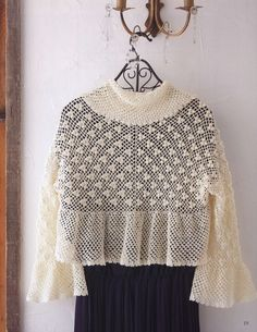 Quick and easy crochet shawl patterns and other designs Japanese ebook Crochet Poncho, Easy Crochet, Crochet Top, Japanese Crochet Patterns, Modern Crochet, Shawl Patterns, Doily Patterns, Fun Crafts To Do, Small Earrings