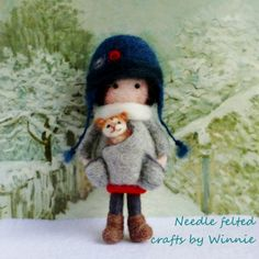 Winter doll with cat https://www.etsy.com/shop/FunFeltByWinnie
