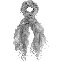 Grey pleated metallic scarf ($12) ❤ liked on Polyvore featuring accessories, scarves, gray shawl, metallic shawl, tassel scarves, grey scarves and gray scarves