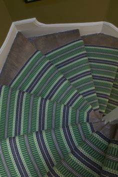 Round we go.Roger Oates - Masai Emerald perfect for turned stairs - available at Michael John Flooring Carpet Runner, Rug Runner, House Staircase, Hall Runner, Stair Rods, 60th Birthday Gifts, Carpet Stairs, Design Your Home, Home Hardware