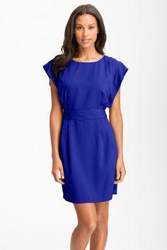 Drape Sleeve Sash Belt Dress by Eliza J on @nordstrom_rack
