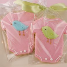 Lil' Bird Onesie Cookies Favors - 24 Decorated Sugar Cookies on Etsy, $66.00