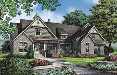 Home Plans HOMEPW75785 - 2,613 Square Feet, 4 Bedroom 4 Bathroom Craftsman Home with 2 Garage Bays
