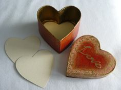 Valentine I Love You Love Note Box  Red Heart by MeliaArts on Etsy, $15.00