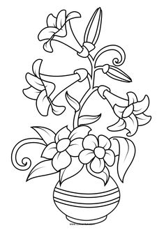 Flower Coloring Pages is a printable coloring book for kids of all ages. Plenty beautiful flower drawings to color and have fun. Coloring pages for kids as an educational tool is an excellent method to improve motor skills, fine motor movement, hand . Adult Coloring Book Pages, Flower Coloring Pages, Free Printable Coloring Pages, Kids Colouring Pages, Kids Coloring, Mandala Coloring, Colouring Pics, Free Coloring, Coloring Books