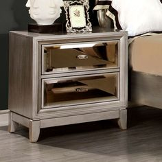 house of hampton byzantium 2 drawer nightstand