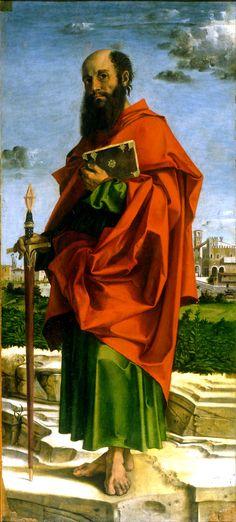 The Lion of Chaeronea — Saint Paul, Bartolomeo Montagna, 1482