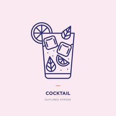 Cocktails line icon design Cocktail Illustration, Line Illustration, Illustrations, App Icon Design, Line Design, Graffiti Art, Cocktails, Drinks Logo, Affinity Designer