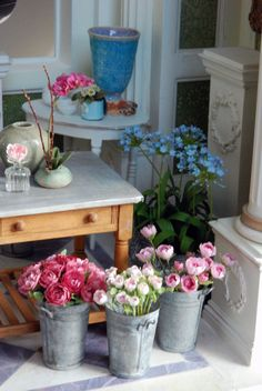 a corner of the flower shop #miniatures