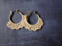 DIY: crochet hoop earrings ❥Teresa Restegui http://www.pinterest.com/teretegui/❥