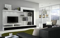 Surakka - Stemma Love these colors Media Wall, Bookcase, Lounge, Shelves, Living Room, Interior Design, Furniture, Wall Units, Home Decor