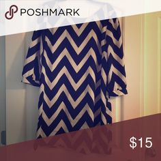 Black and white zigzag dress Very soft, slightly stretchable material Dresses Mini