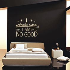 Wall Decal 60 COLOR CHOICES  I Am Up To No Good by WallStickums, $26.00