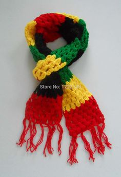 Cheap scarf patchwork, Buy Quality scarf rose directly from China scarf red Suppliers: New Fashion Jamaica Rasta Reggae Scarf Handmade Crochet Knitting Wool Acrylic Scarves Wraps Neck Warmer Yellow Green Re