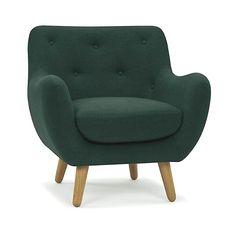 Poppy meuble Fauteuil esprit scandinave vert foncé