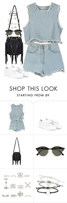 """""""Untitled#4406"""" by fashionnfacts ❤ liked on Polyvore featuring Acne Studios, Ray-Ban, New Look and Topshop"""