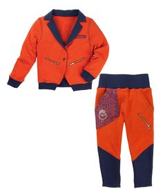 Look what I found on #zulily! Red & Blue Snake Organic Blazer & Pants - Toddler & Boys by Vicious Wear #zulilyfinds