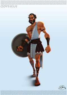 The next character for my Greek mythology series. Odysseus, King of Ithaca, son of Laertes and Anticlea. The genuis mind behind the Trojan horse and very famous for the Odysee, his long journey back home. I have not decided which character I want Character Poses, Character Modeling, Comic Character, Game Character, Character Concept, Greek Warrior, Fantasy Warrior, Fire Warrior, Character Design Animation
