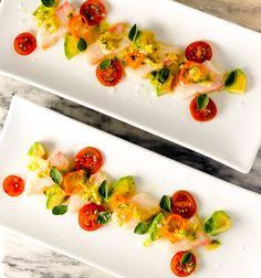 Spicy Hamachi Crudo | DIVERSE DINNERS Palate Cleanser, Fish Dishes, How To Dry Oregano, Sashimi, Appetizers, Appetizer Ideas, Caprese Salad, Food Print, Delicious Desserts