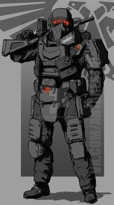 A imperial high tech trooper Cyberpunk, Character Concept, Character Art, Futuristic Armour, Sci Fi Armor, Warhammer 40k Art, Armor Concept, Sci Fi Characters, Military Art