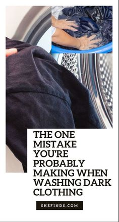 Find out the one mistake you're probably making when washing your darks on SHEfinds.com Dark, How To Make, Clothes, Fashion, Woman Clothing, Women, Outfits, Moda, Clothing