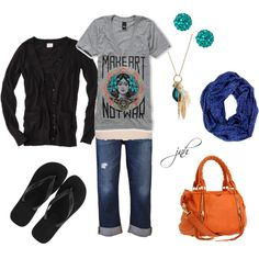 casual summer, created by jill-hammel on Polyvore