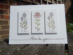 Craft-E-Place: Two cards, one stamp set ...(Lawn Cuts Stitched Rectangle)