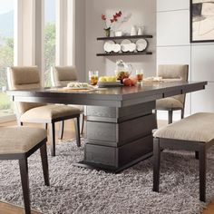Homelegance Tanager Dining Table with Extension Leaf - Dark Espresso | from hayneedle.com