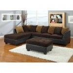 AC Pacific Furniture - 3 Piece Polyester Sectional with Ottoman - JYQ1094  SPECIAL PRICE: $758.99