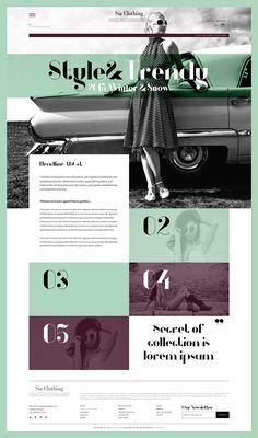 SiaClothing - Web Design - Website, Web Store, Women's Fashion, Grid, Blocks