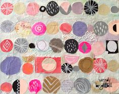 Original mixed media collage by Wendy Brightbill titled Circles. Collages, Collage Artists, Kunstjournal Inspiration, Art Journal Inspiration, Art Journal Pages, Art Journals, Collage Techniques, Mixed Media Collage, Art Plastique