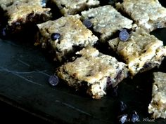 Paleo Chocolate Chip Blondies...sub for honey...use sugar free chips or lower carb chocolate
