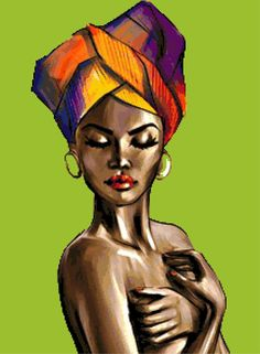 Black Women Art, Black Art, Disney Magic, African Paintings, African Art, Natural Hair Art, Modern Cross Stitch Patterns, Afro Art, Beauty Art