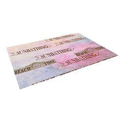 "Kess InHouse Marianna Tankelevich ""Beach Time"" Pink Purple Outdoor Floor Mat/Rug, 5 by 7-Feet Kess InHouse"